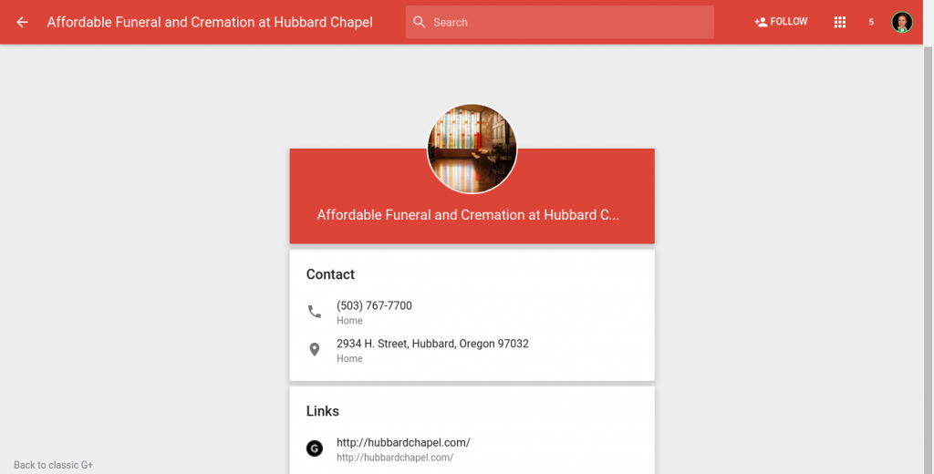 Verified G+ Local Page - Attached to Maps