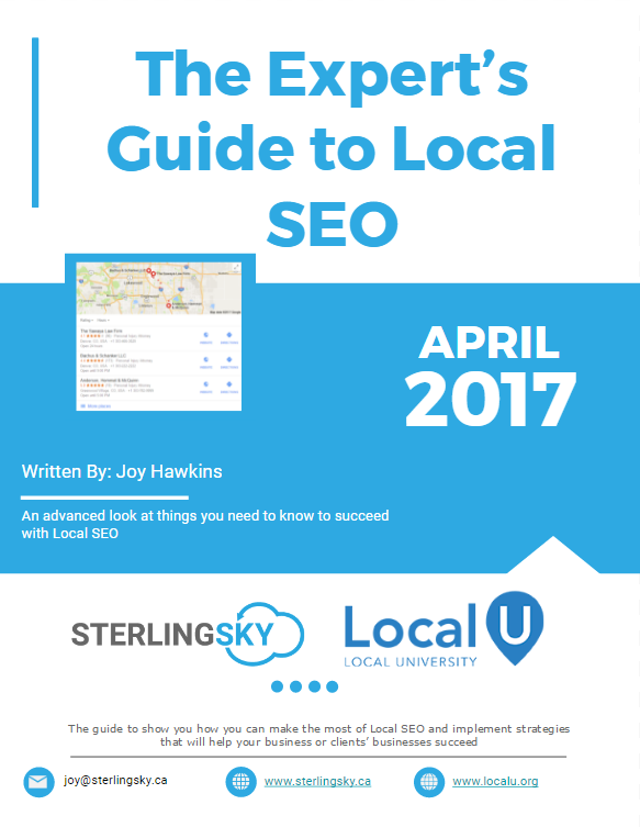 advanced local seo training is now available sterling sky inc rh sterlingsky ca Keyword Research seo training manual