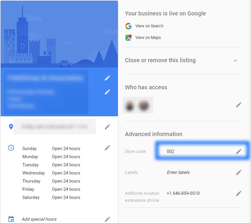 how to resolve duplicate addresses in google my business sterling