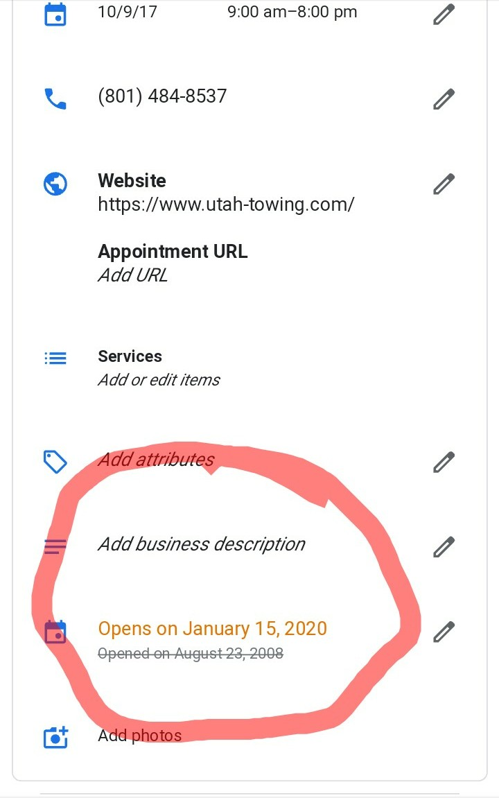 7157c7a4a8a Google has fixed this issue that was making it possible for spammers to  completely remove verified listings by adding an opening date in the future.