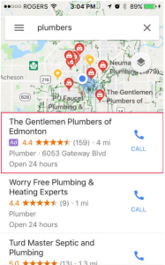 Call Tracking location extension