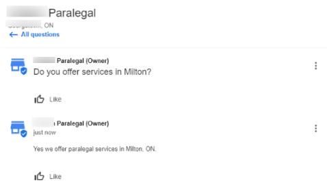 Paralegal Milton q&a
