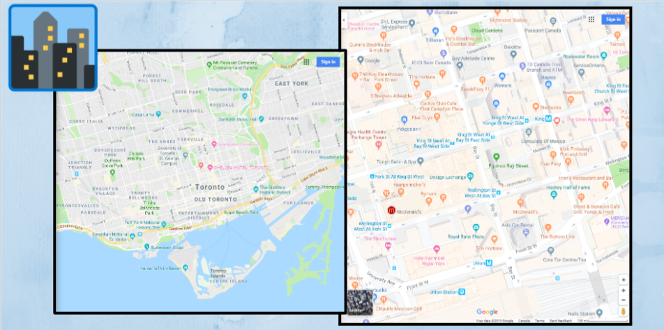 Mapping Your Way to Success - Google Slides_ toronto maps sterling sky