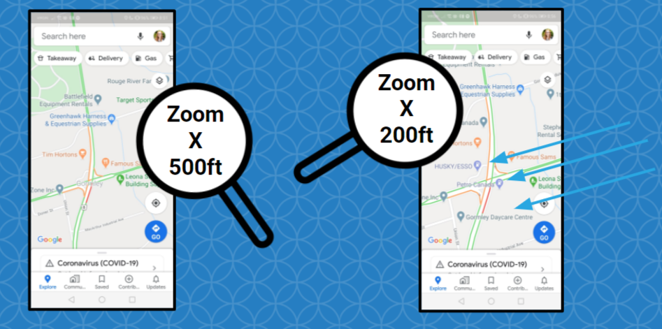 Mapping Your Way to Success - Google Slides_5 zoom in maps sterling sky